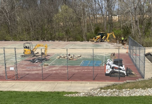 Tennis Court Reconstruction Started